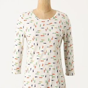 ANTHROPOLOGIE PILCRO Helping Hands RARE Top